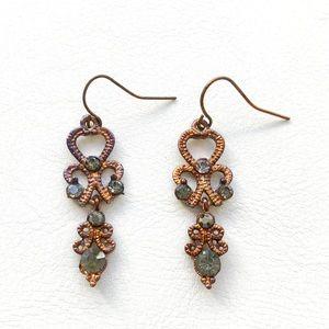 Jewelry - Antique Bronze Chandelier Earrings